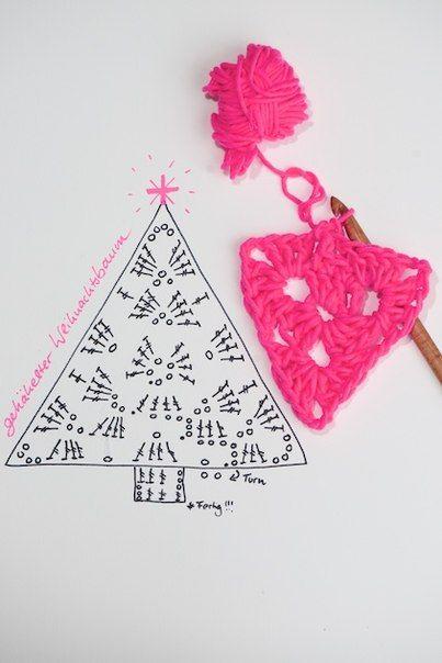 Delicadezas en crochet Gabriela: Árbol de Navidad de punto