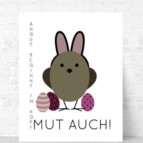 Der Glaube versetzt Berge und lässt vielleicht sogar Ohren wachsen ;-)   #statementprint #motivation #artgemixt #nurindeinemkopf #printshop #osterdeko