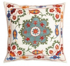 Wow - beautiful embroidered Uzbeki pillows. Crazy to think what the Web can bring to us so easily......from uzbek-craft.com