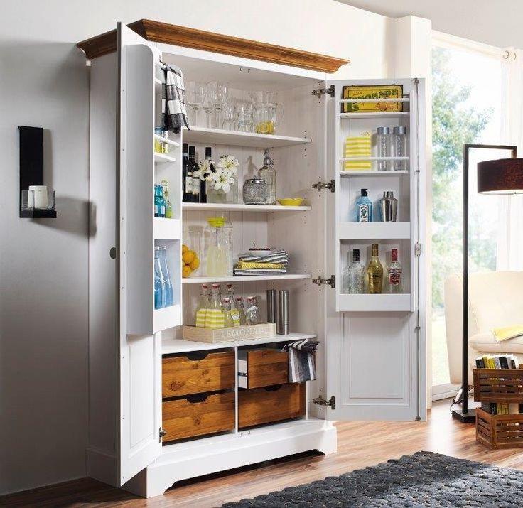 vorratsschrank vorratsschrank dielenschrank schrank kiefer massiv holz neu ovp. Black Bedroom Furniture Sets. Home Design Ideas