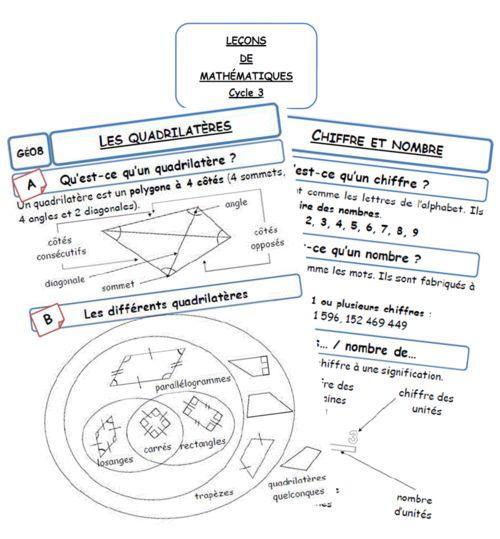 Nouvelle version des leçons de maths pour le cycle 3