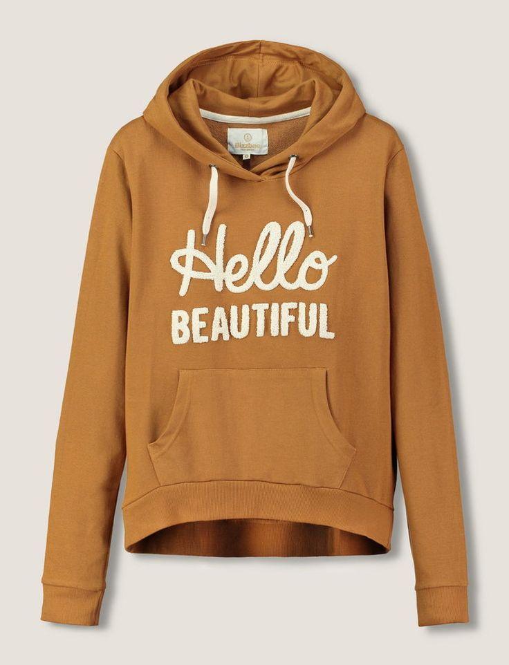"""Sweat à capuche patch """"Hello Beautiful"""" - Bizzbee (32,90€)"""