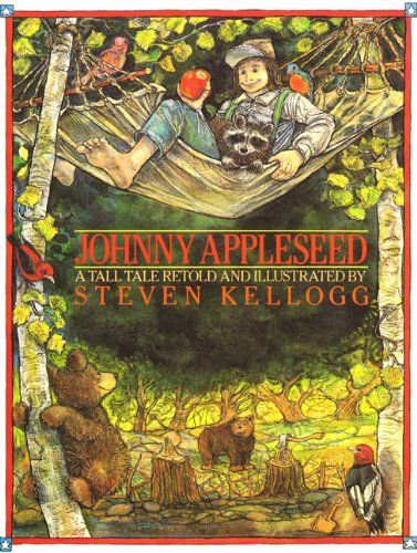 Johnny Appleseed by Steven Kellogg http://www.amazon.com/dp/0688064175/ref=cm_sw_r_pi_dp_vUgdwb0Y00RAH