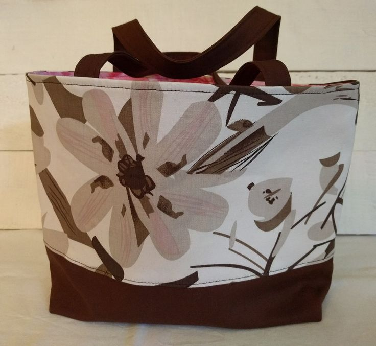 Medium Tote Bag, lined tote bag, fabric bag, gift bag by ByCatDesign on Etsy