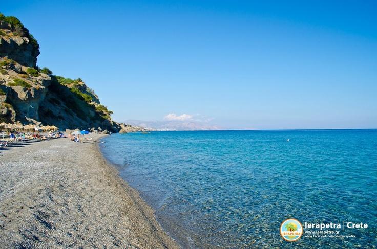 Agia Fotia beautifull beach in #Ierapetra. | Αγιά Φωτιά, ανατολικά της Ιεράπετρας.    (CC-BY-SA 3.0)