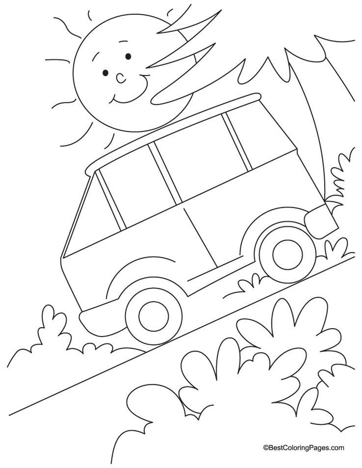 Steep Slope Coloring Page
