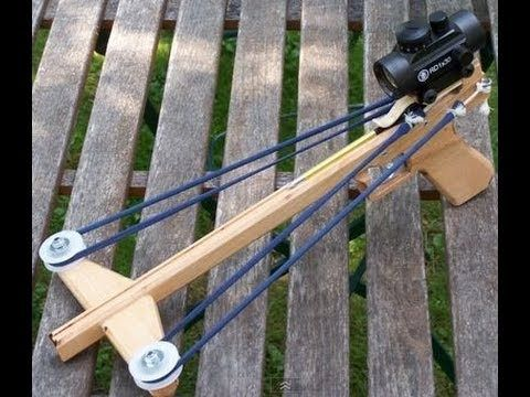 ▶ Slingshot Crossbow Pistol + TUTORIAL + Templates - YouTube ML: This project could be useful in future.