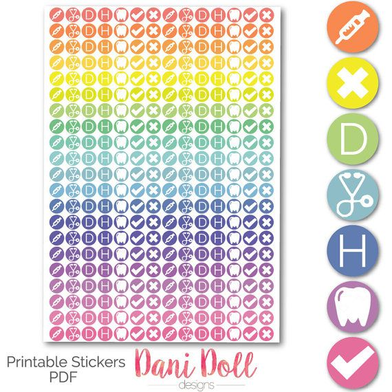 Appointment & Health Circle Planner Stickers Doctors Hospital Dentist Jabs Printable Mambi Erin Condren Instant Download by danidolldesignsx