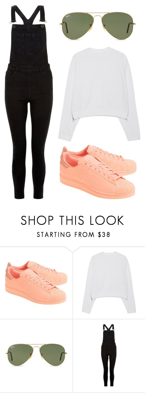 Sin título #39 by worldofalicin on Polyvore featuring moda, Acne Studios, New Look, adidas Originals and Ray-Ban
