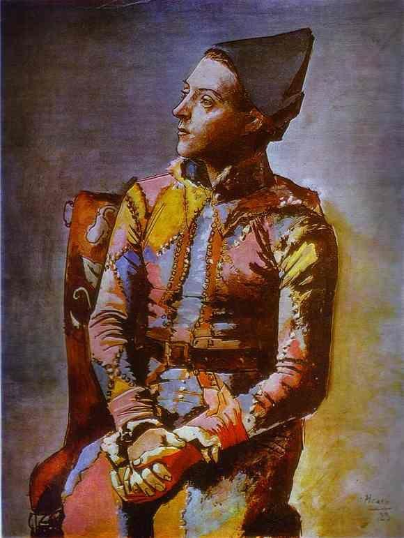 Pablo Picasso - Arlequin assis, 1923.                                                                                                                                                                                 Plus