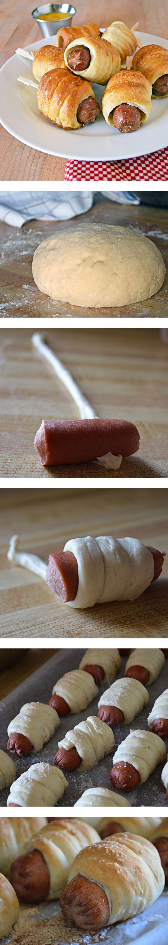 ... Pretzels Dogs, Pretzel Dog Recipe, Mini Hotdogs, Pretzel Dogs Recipe