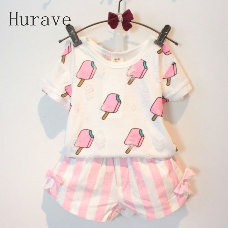 Awesome Hurave Summer Style Children Clothing Sets Baby Girls Set Kids Girl Clothes Ice Cream Hole T-shirt & Bow Short Suit - $17.55 - Buy it Now! Check more at http://kidshopglobal.com/kids-and-baby-shop-online/childrens-clothing/girls-clothing/girls-sets/hurave-summer-style-children-clothing-sets-baby-girls-set-kids-girl-clothes-ice-cream-hole-t-shirt-bow-short-suit/