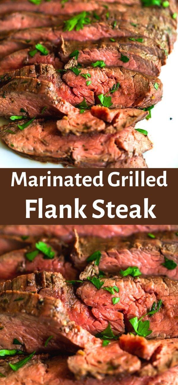 Marinated Grilled Flank Steak Recipe Flank Steak Recipes Flank Steak Grilling Recipes