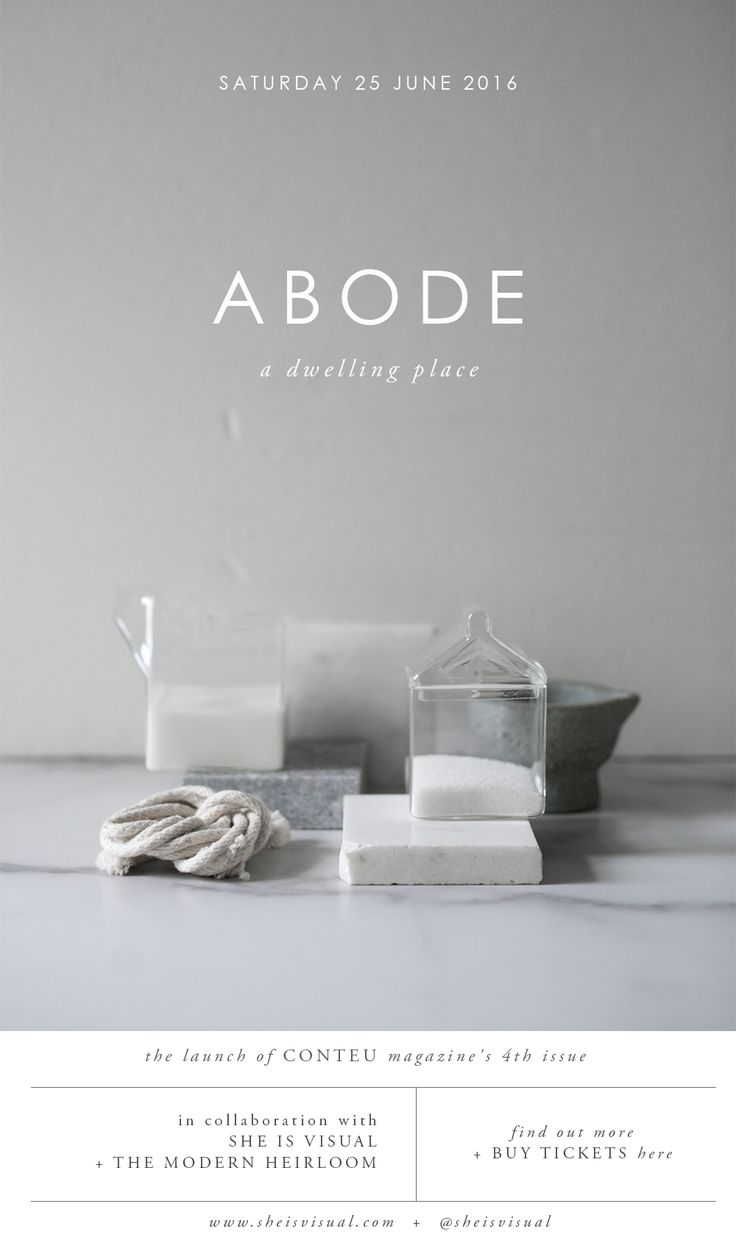 ABODE by CONTEU MAGAZINE | image + design by SHE IS VISUAL