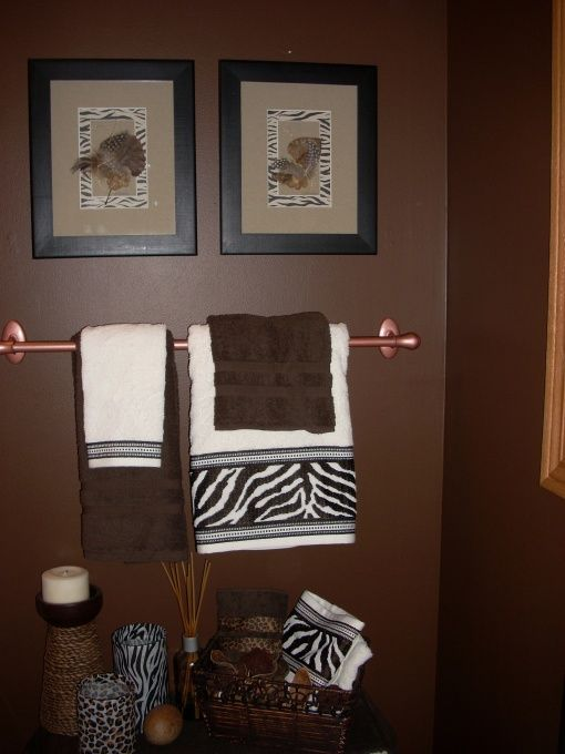 African american bathroom decor accessories animal print for Animal bathroom decor
