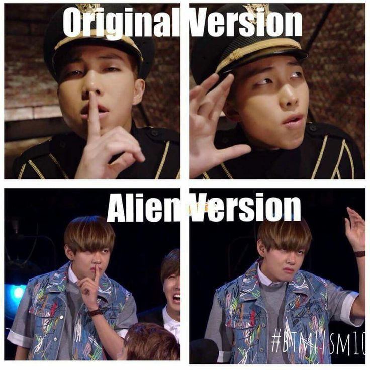 BTS Rap Mon & TaeTae Alien Lol