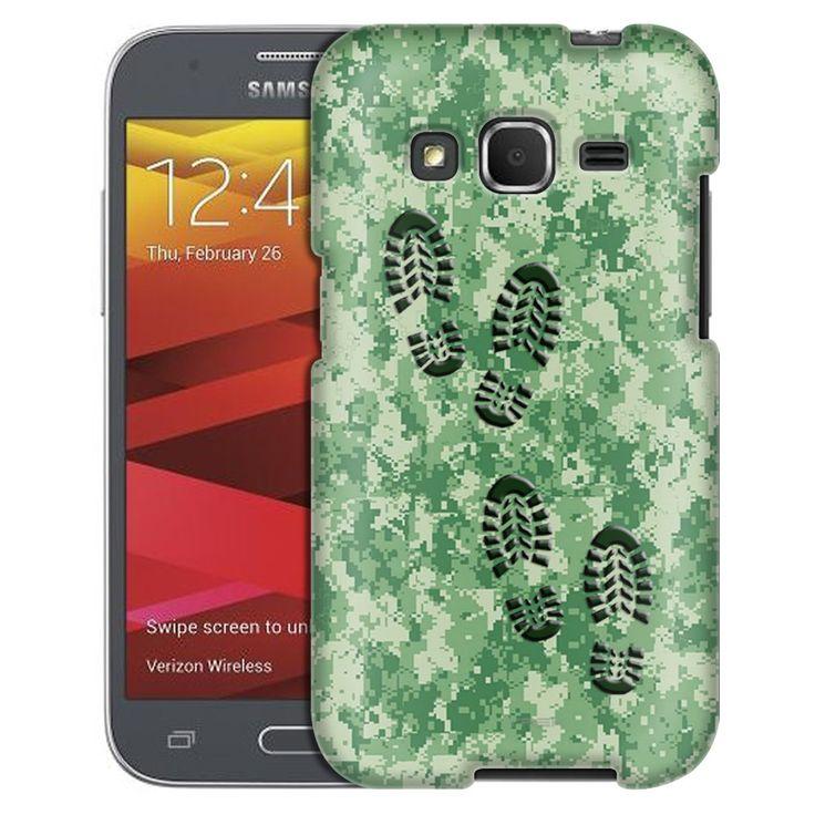Samsung Galaxy Prevail LTE Footprints on Digital Green Camouflage Case