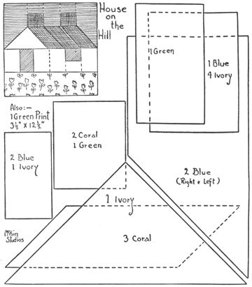 House on the Hill Quilt - foundation patterns - download PDFndation patterns
