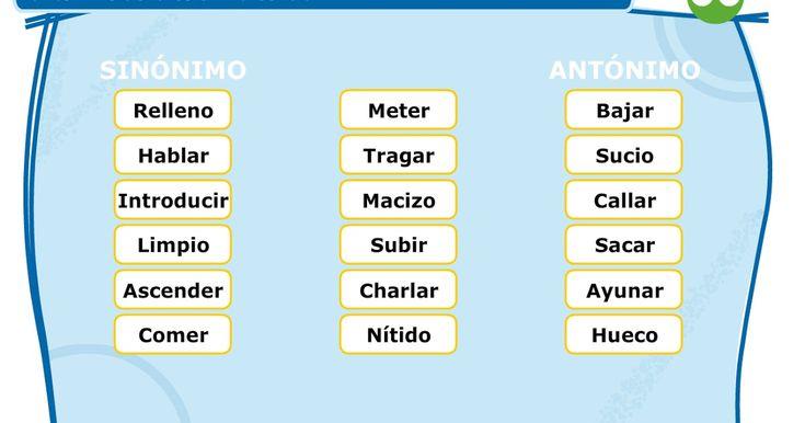 Aplicación para buscar los sinónimos y los antónimos de una serie de palabras dadas. Clic en la imagen para acceder.