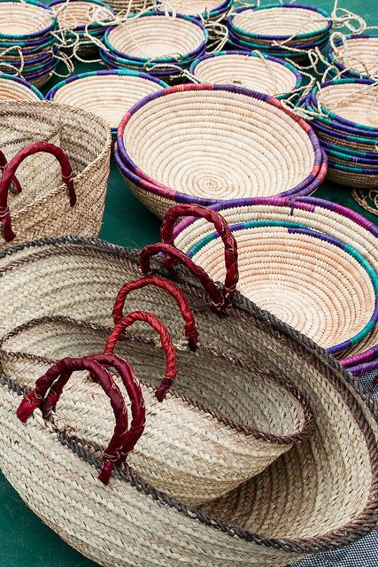 How To Make A Woven Grass Basket : Woven baskets flickr photo sharing storage