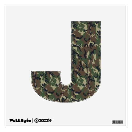 Alphabet Decals - Woodland Military Camouflage Room Sticker