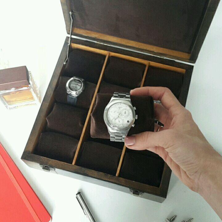 Купить Мужская шкатулка с отделениями для часов - коричневый, подарок мужчине, подарок мужу, подарок любимому