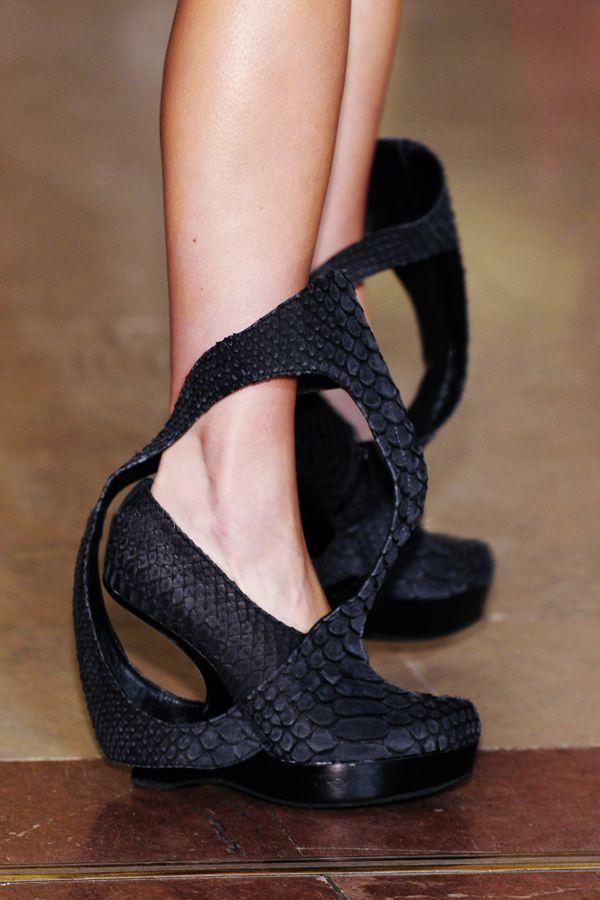 scluptural python heels by Steffie Christiaens