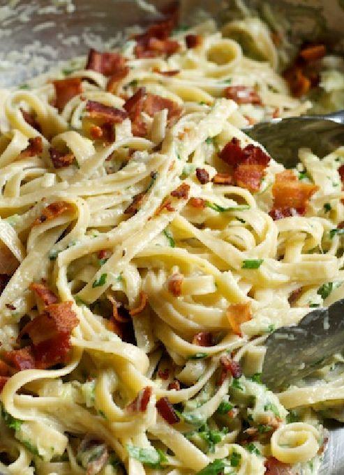 Low FODMAP & Gluten free Recipe - Bacon & pesto pasta  http://www.ibssano.com/low_fodmap_recipe_bacon_pesto_pasta.html