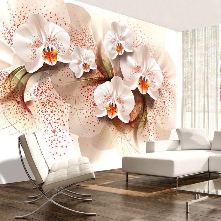 Tapetenmuster wohnzimmer blumen  Die besten 25+ Fototapete orchidee Ideen auf Pinterest   E hoi ...