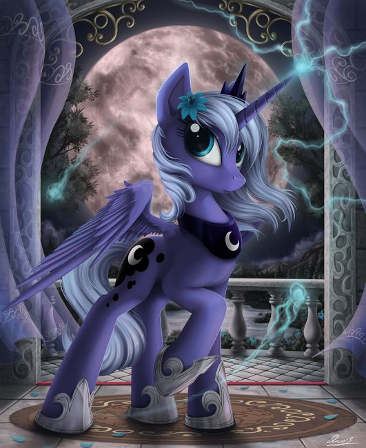 Princess Luna.. This is who Ella wants to be for Halloween. Gotta figure out how to make this costume now