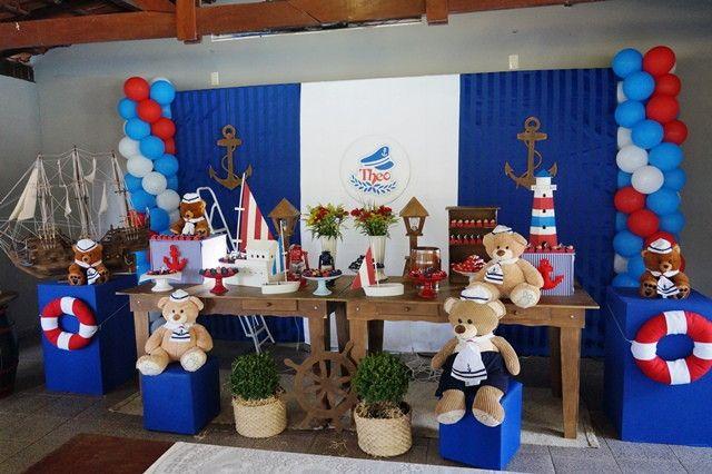 Decoração urso Marinheiro ALUGUEL   Doce Sonho Festas   Elo7