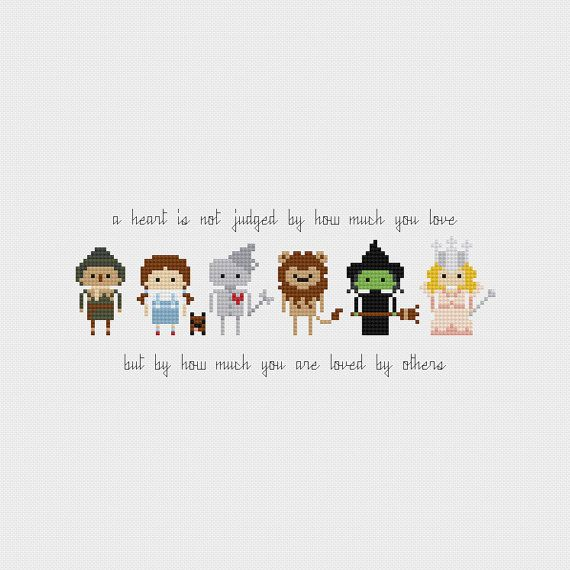 The Wizard of Oz Quote Cross Stitch Pattern от pixelsinstitches