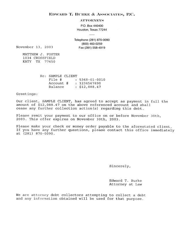Sample Statutory Letter Of Demand
