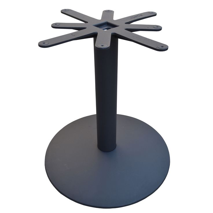 JI Bases Cast 28-inch Domed, Round Restaurant Table Base with 4-inch Column and 24-inch Top Plate
