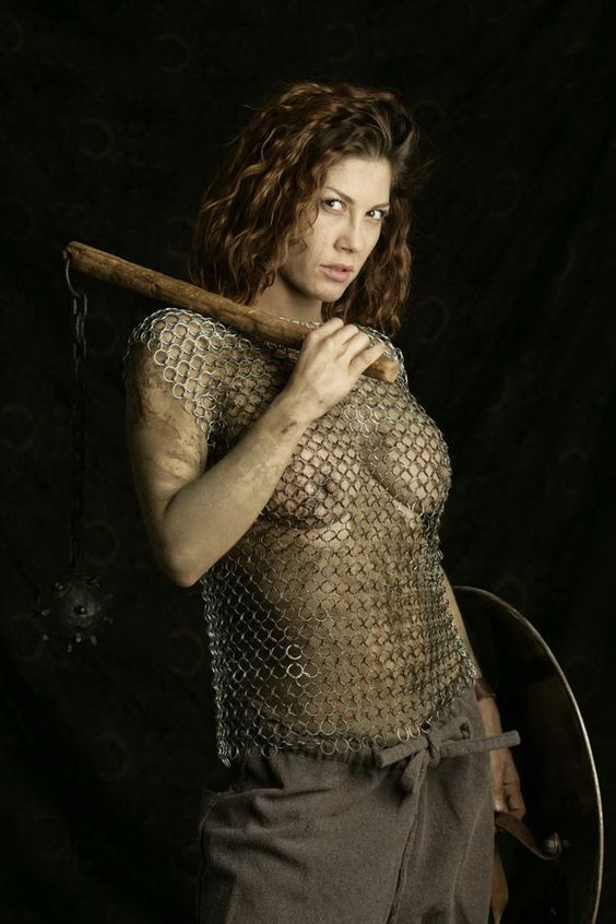 women naked in chainmail