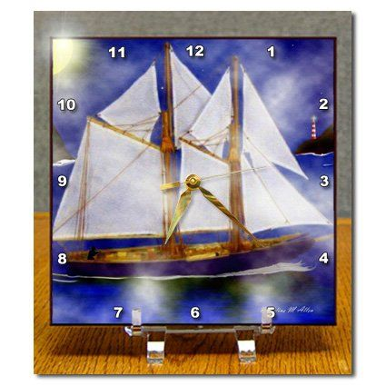 dc_6662_1 SmudgeArt Flood Art Ship Designs - A Sailors Dream - SmudgeArt Ship Art - Desk Clocks - 6x6 Desk Clock 3dRose http://www.amazon.com/dp/B0046DKFS4/ref=cm_sw_r_pi_dp_XZQbwb1F7AWPY