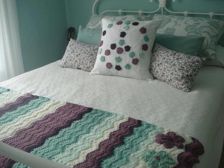 cubre cama - tejido