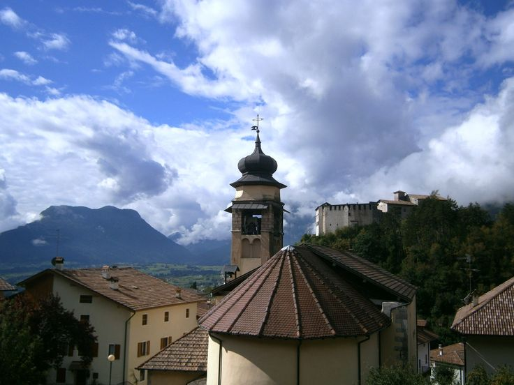 Behind the church and castle in Stenico