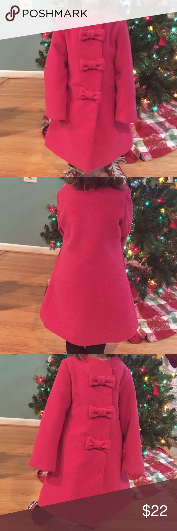 Pink Widgeon 6x Peacoat Widgeon brand 6x girls peacoat.  Made to mimic wool without the hassle of wool.  Pre-loved, looks like new.  Warm and adorably dressy. Widgeon Jackets & Coats Pea Coats