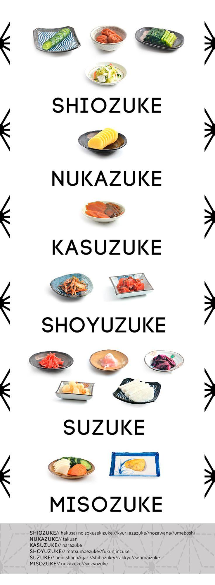 Los tsukemono o encurtidos japoneses, son una parte importantísima de la  dieta japonesa, son servidos prácticamente en cada menú tradicional,  acompañando al arroz y a la sopa de miso. son valorados por su sabor único  y comúnmente utilizados como guarnición, condimento, digestivo o para  limpi