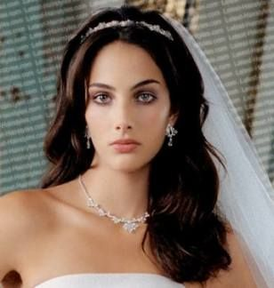 28+ Ideas Wedding Hairstyles For Long Hair With Veil Vintage Simple For 2019