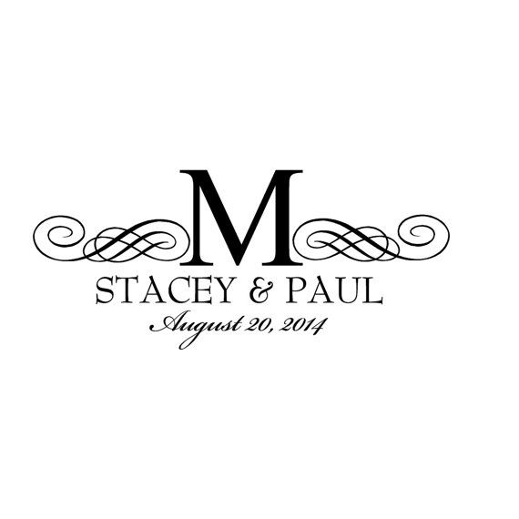 Wedding Monogram, Logo, Custom, Digital Monogram, Gobo Wedding Monogram