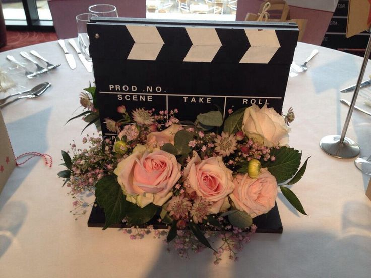 A film themed wedding - flowers by the fantastic Frog flowers!