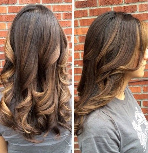 tortoiseshell-hair-color-trend Natural Level: 4  Lifted with equal parts 6N + 6AH with 20 vol.  Balayage with Naturlite White Powder and 40 vol cream developer, with placement emphasized around the face.  After rinsing, she glossed with equal parts 7N + 7AH with a dab of Naturlite Oil and 5vol, alternating with 8N + 8AH + a dab of oil. The lighter formula was used to tone the ends and around the face.