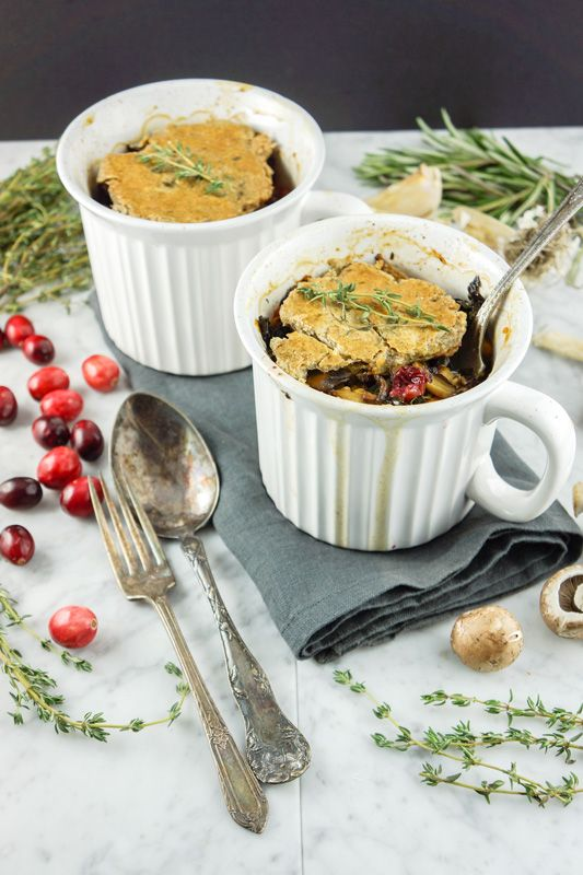 Simple mushroom and cranberry #vegan pot pie for 2 #Ad #PotPie