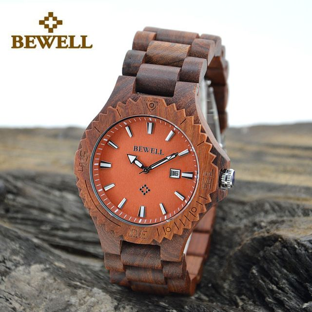 BEWELL Wood  Watch Clock Men Luxury Top Brand 2016 Quartz Wrist Watches for Man Relogio Masculino Wristwatch with Gift Box 023C