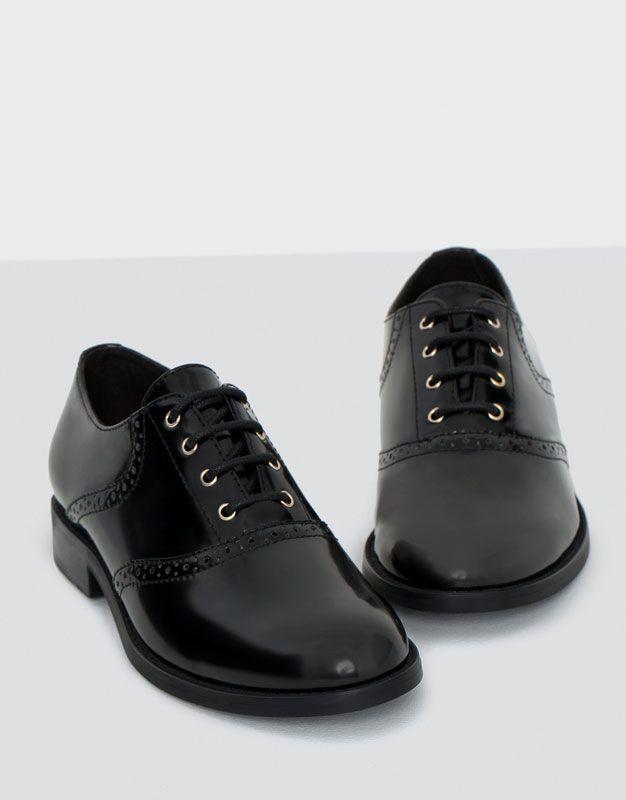 Туфли-оксфорды - Просмотреть все - Обувь - Для Женщин - PULL&BEAR Российская Федерация