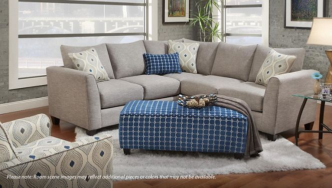Fusion Furniture Quartz 2 Piece Sectional In 2020 Fusion Furniture Sectional Small Sectional Couch