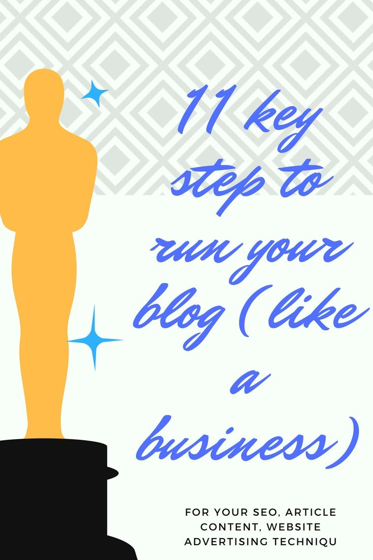11 KEY STEP TO RUN YOUR BLOG (LIKE A BUSINESS)
