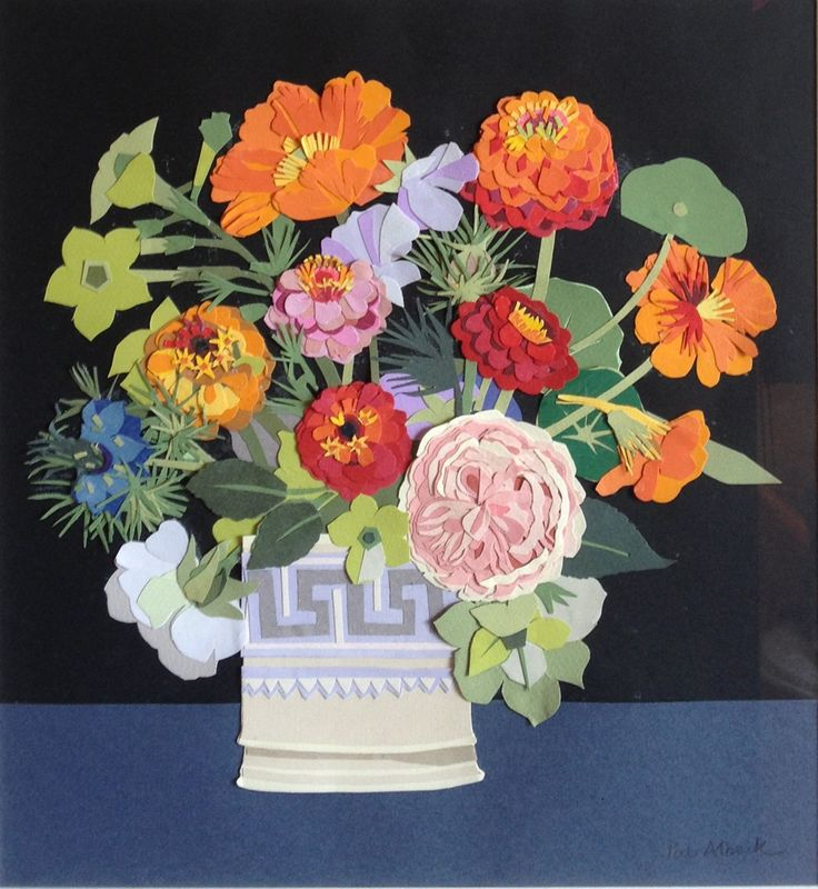 Flowers In a Greek Key Jug, Pat Albeck, 2016